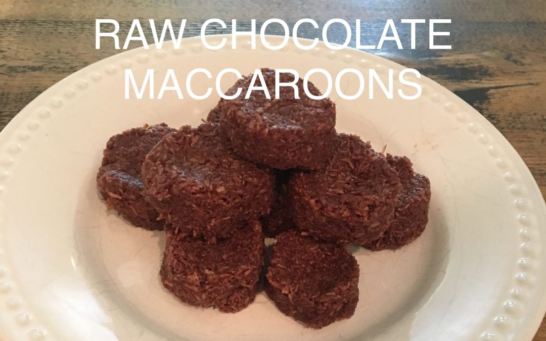 Raw Chocolate Maccaroons