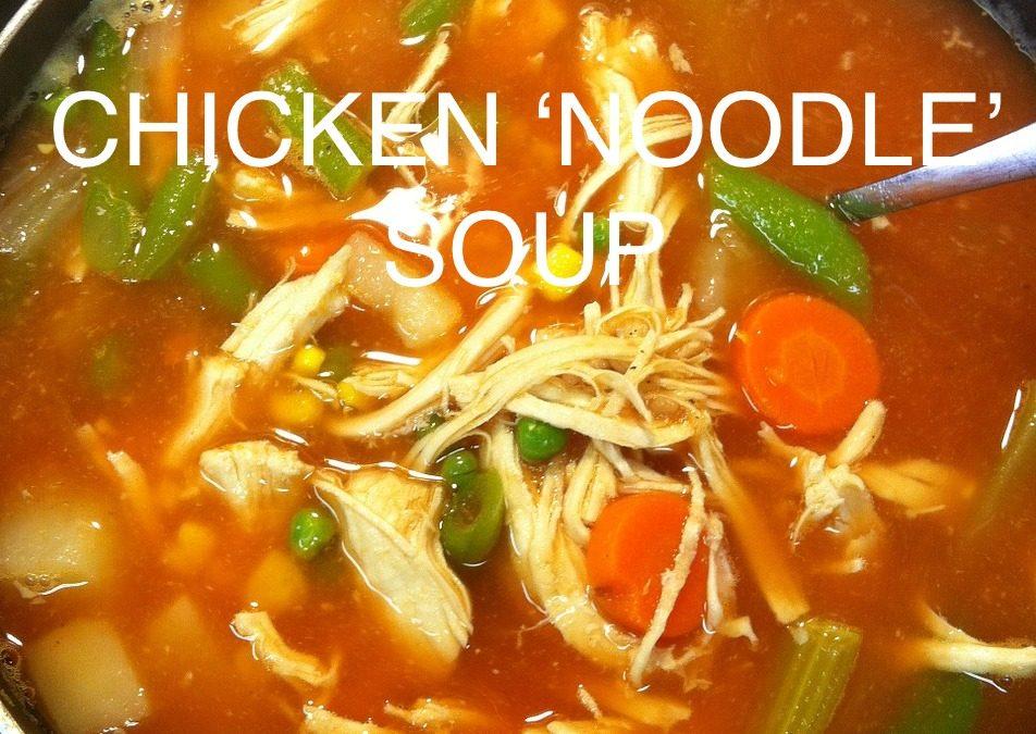 Chicken 'noodle' soup (Paleo, gluten-free)