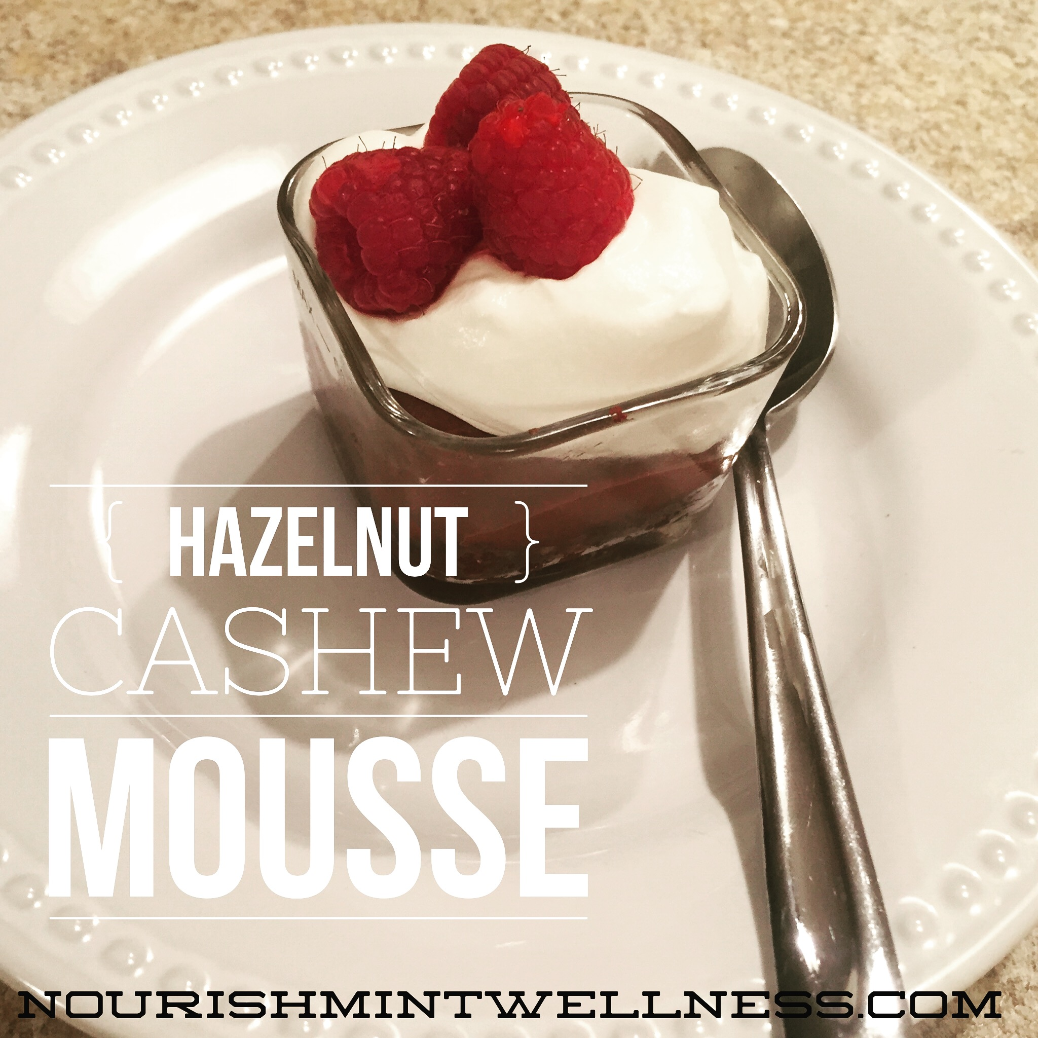 Hazelnut and Cashew Chocolate Mousse