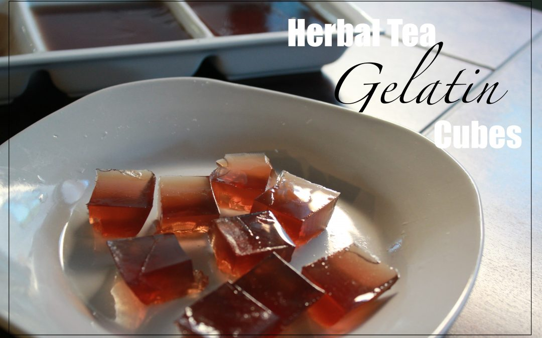 Herbal Tea Gelatin Cubes