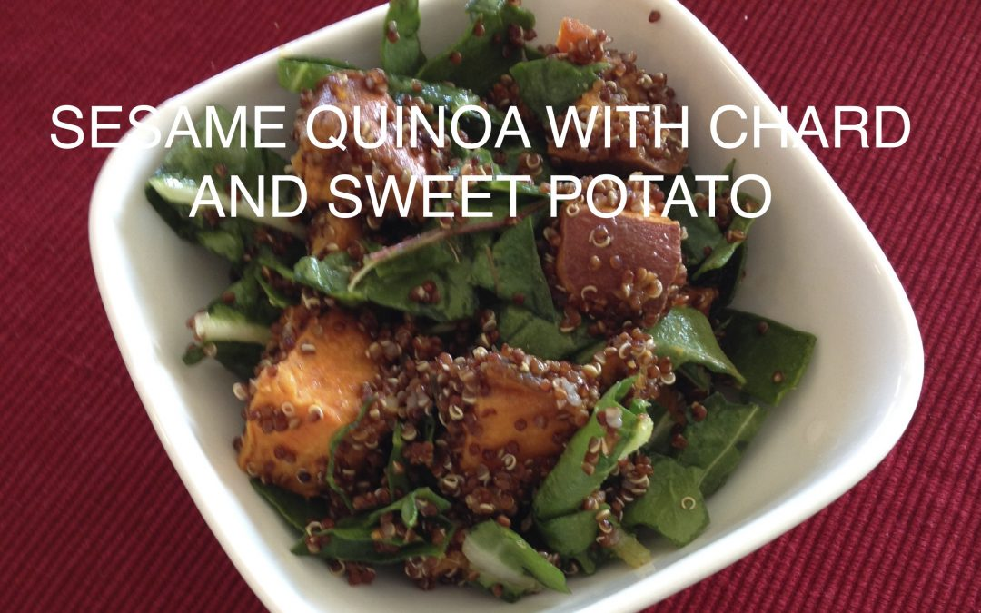 Sesame Quinoa with Chard and Sweet Potatoes