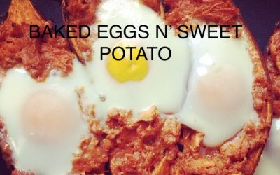 Baked Eggs n' Sweet Potato