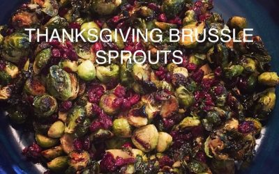 Thanksgiving Brussels Sprouts with Balsamic and dried Cranberries
