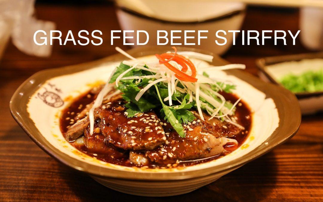 Grass Fed Beef Stirfry