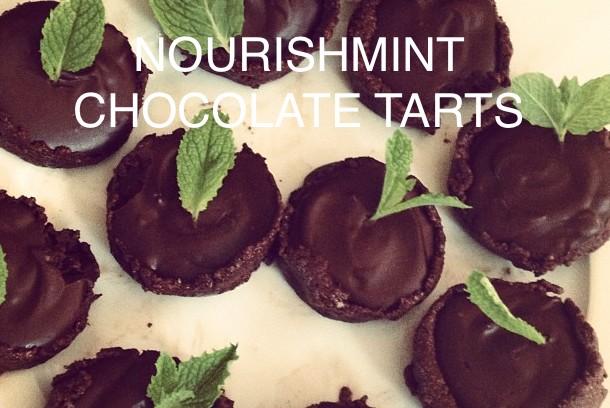 NourishMint Chocolate Tarts