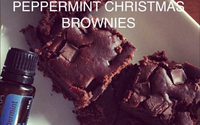 Peppermint Christmas Brownies
