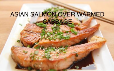 Ginger Salmon over Warmed Cabbage