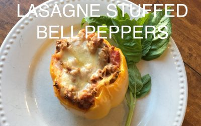 Lasagne Stuffed Bell Peppers