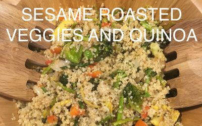 Sesame Roasted Veggies over Quinoa