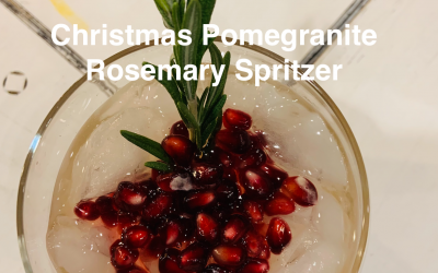 Christmas Rosemary Pomegranate Cocktail